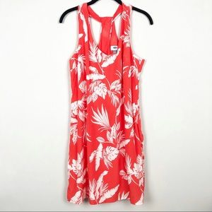 Old Navy coral white sundress